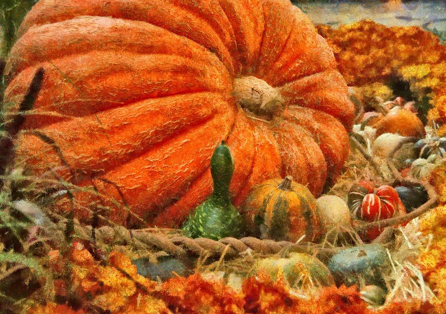 Savad Photograph - Autumn - Pumpkin - Great Gourds by Mike Savad
