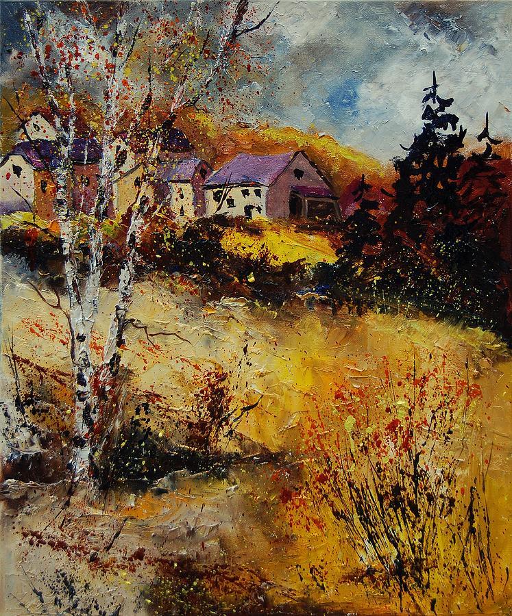 Landscape Painting - Autumn 569021 by Pol Ledent