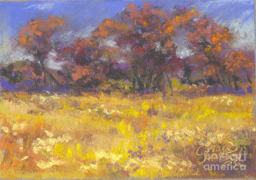 Pastel Painting - Autumn Afternoon by Grace Goodson