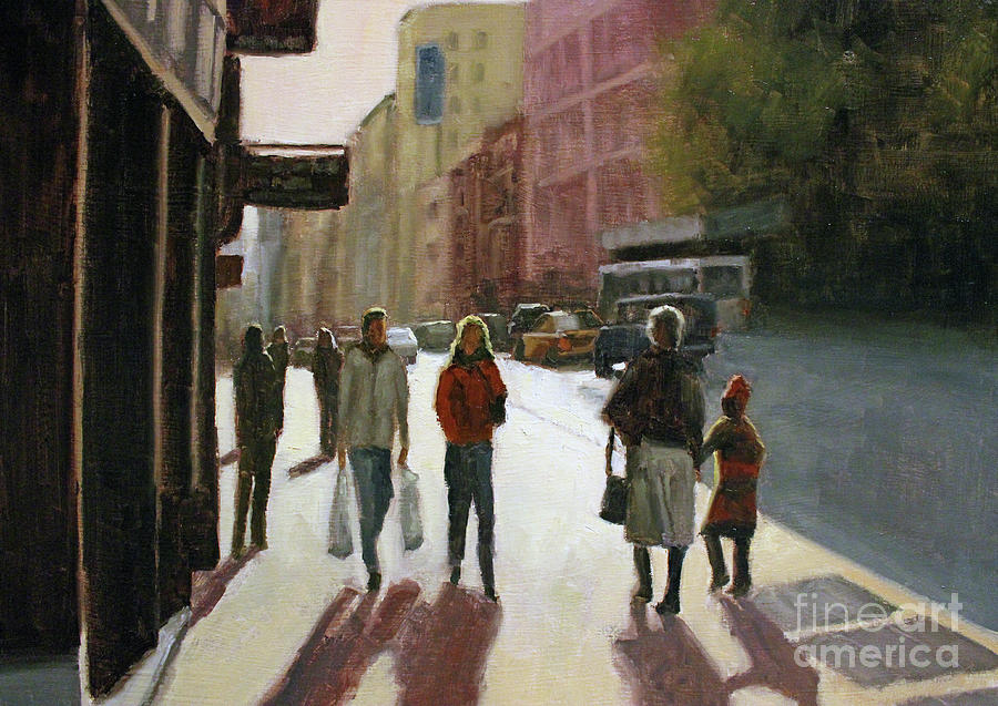 Cityscape Painting - Autumn afternoon by Tate Hamilton