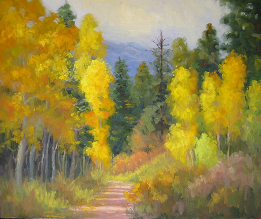Autumn Painting - Autumn Ambience by Bunny Oliver