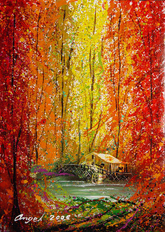 Autumn Painting - Autumn by Angel Ortiz
