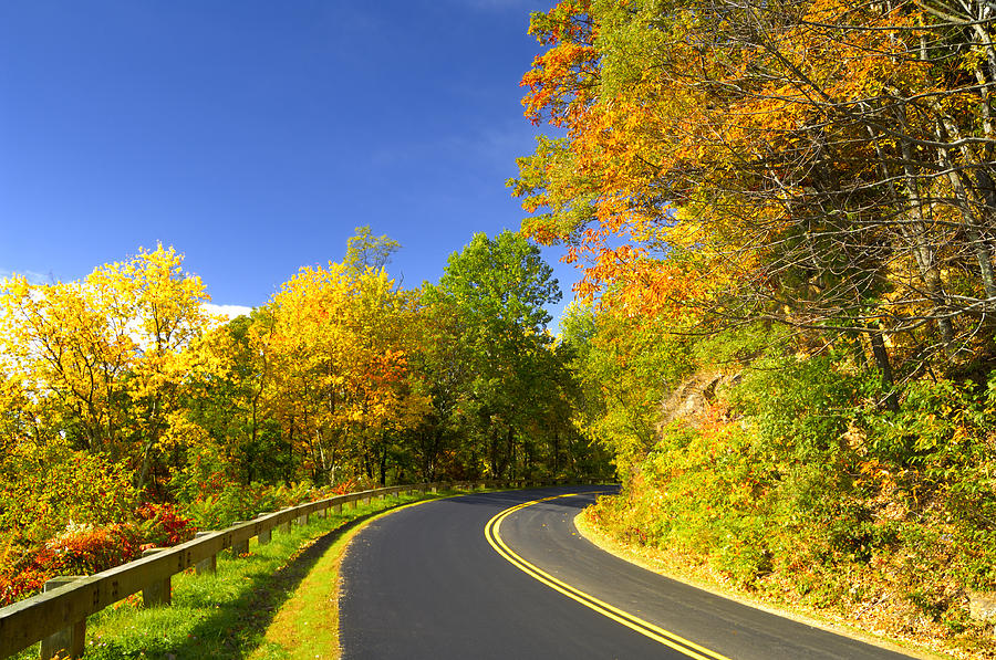 October Photograph - Autumn Appalachian Drive by Darrell Young