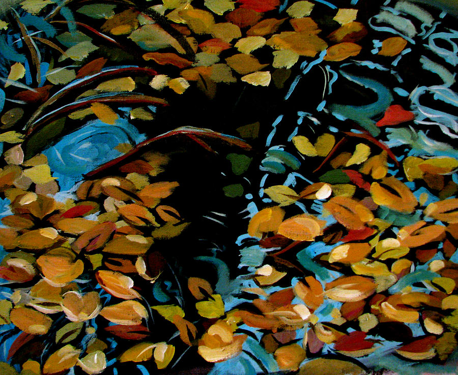 Autumn Painting - Autumn by Art Nomad Sandra  Hansen