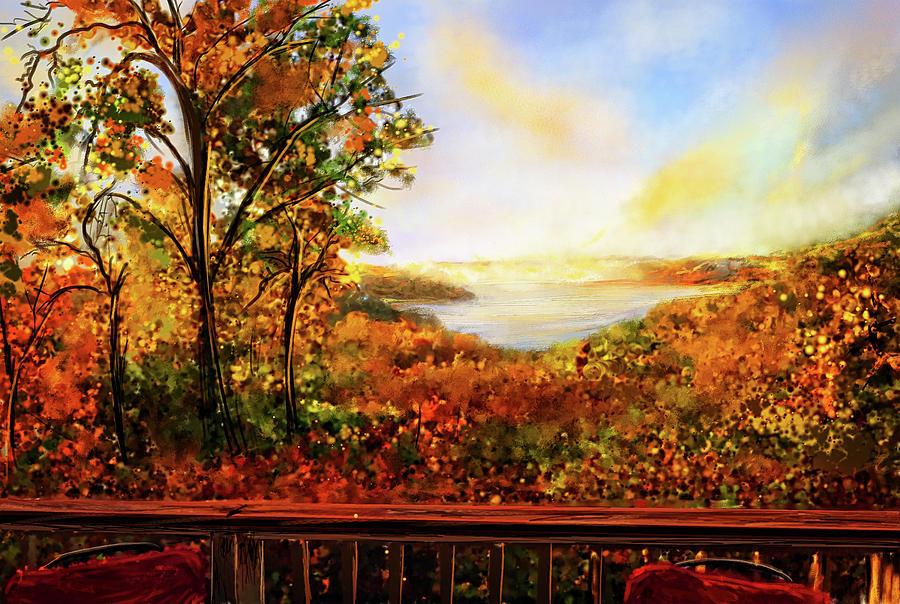 Autumn At Beaver Lake -Beaver Lake Art by Lourry Legarde