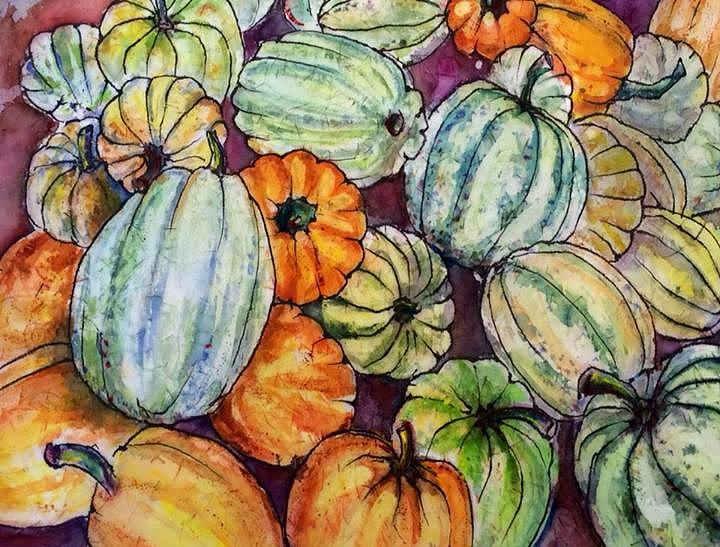 Autumn at Beth's Farmstand by Gloria Avner