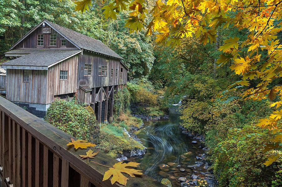 Cedar Creek Photograph - Autumn At Cedar Creek Grist Mill by David Gn