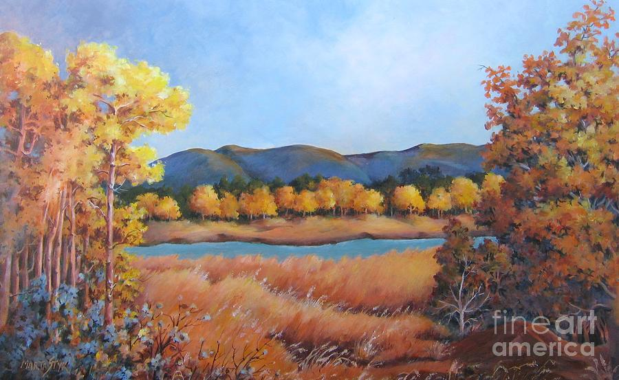 Landscape Painting - Autumn At Fraser Valley 2 by Marta Styk