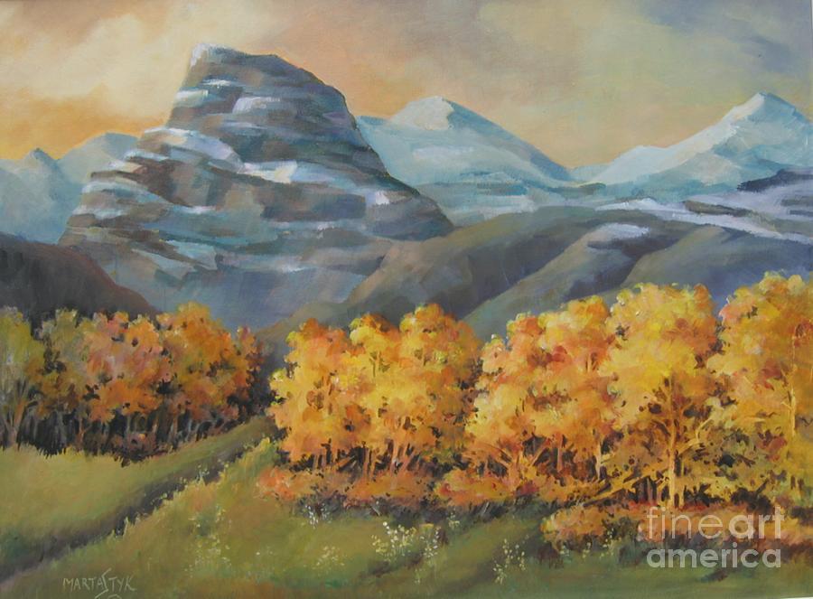 Landscape Painting - Autumn At Kananaskis by Marta Styk