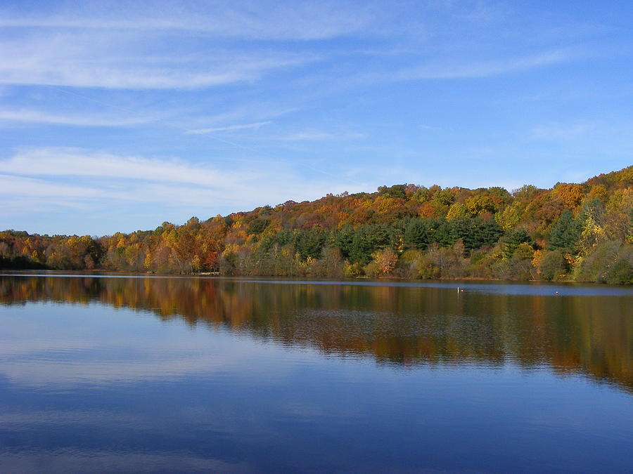 Lake Photograph - Autumn At Lake Mohegan by Margie Avellino