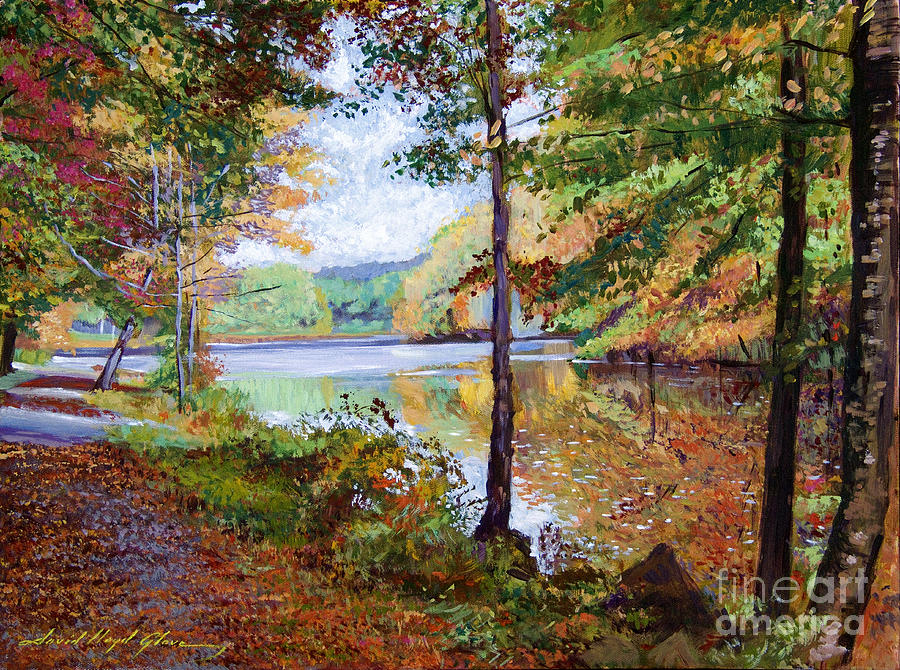 Autumn Painting - Autumn At Rockefeller Park  by David Lloyd Glover