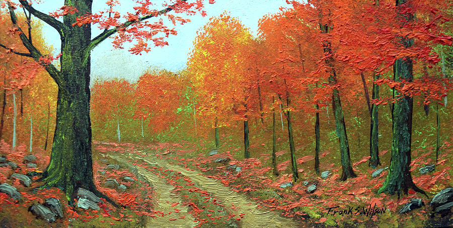 Autumn Back Road Painting