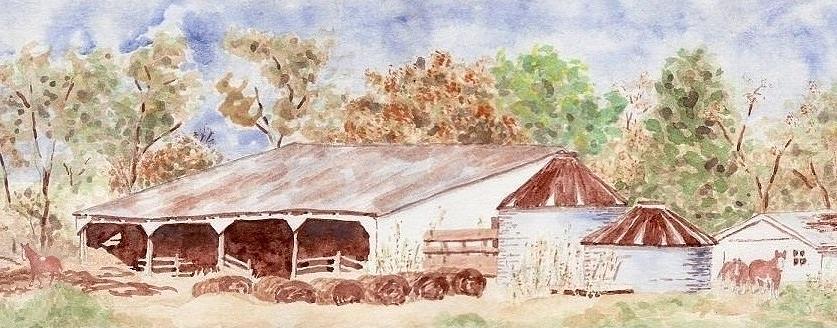 Autumn Barn Painting - Autumn Barn by Bill Torrington