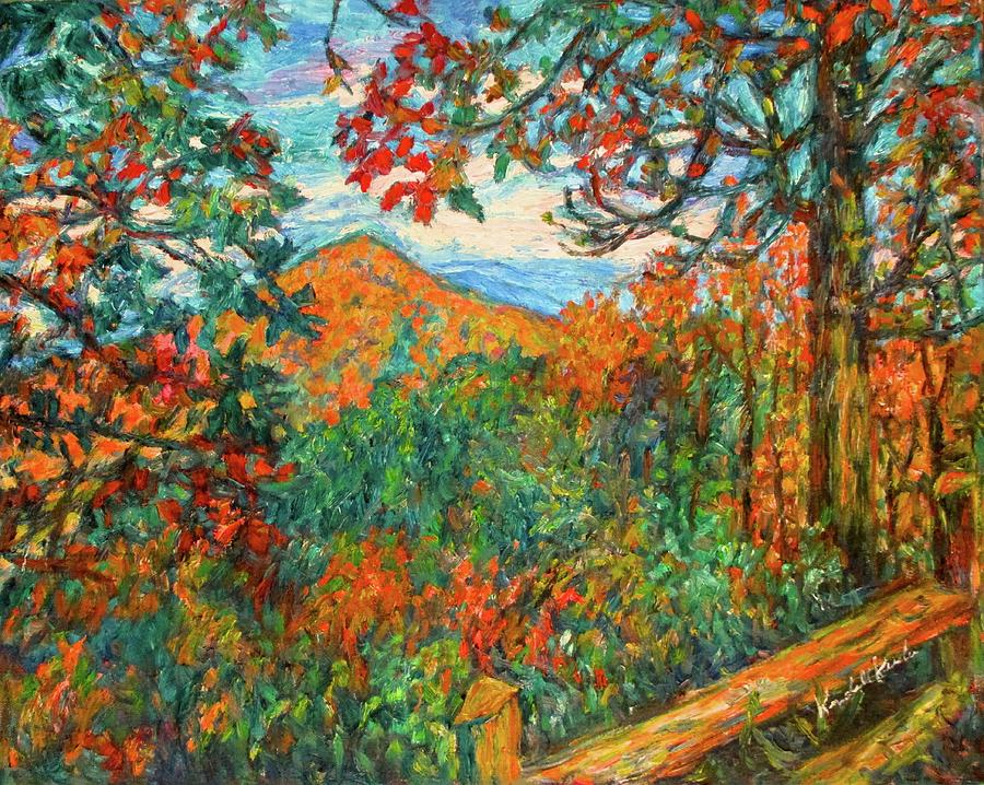Blue Ridge Parkway Painting - Autumn Beauty From Sharp Top by Kendall Kessler