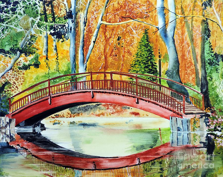 Bridge Painting - Autumn Beauty by Tom Riggs