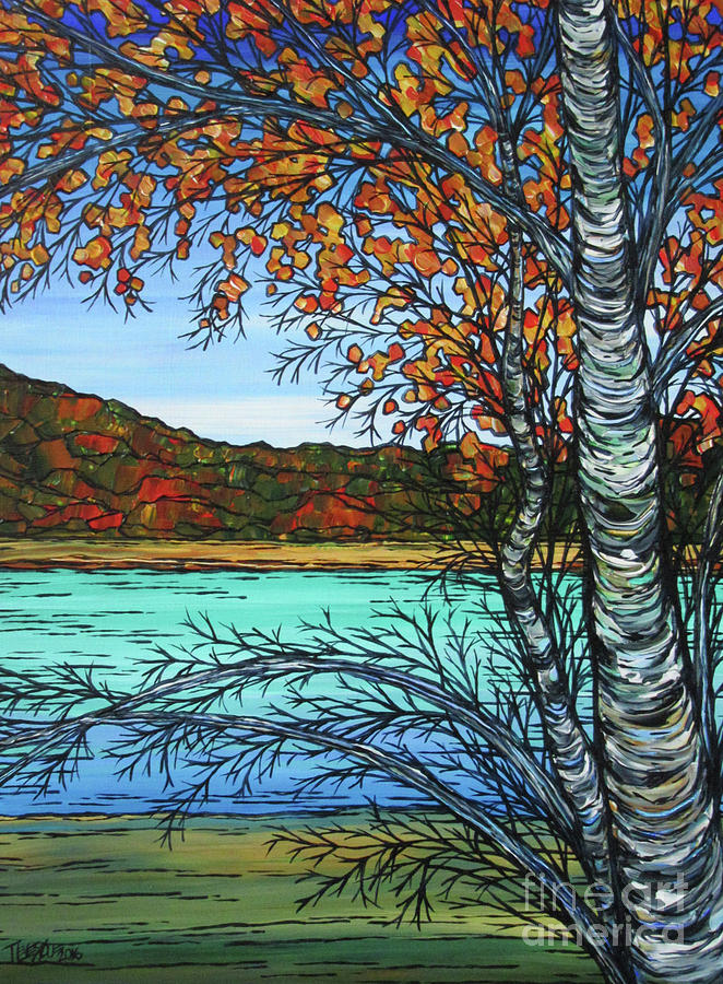Autumn Birch at Walden by Tracy Levesque