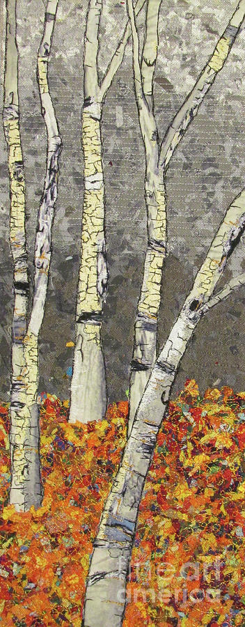 Birch Trees Tapestry - Textile - Autumn Birch by Dolores Fegan
