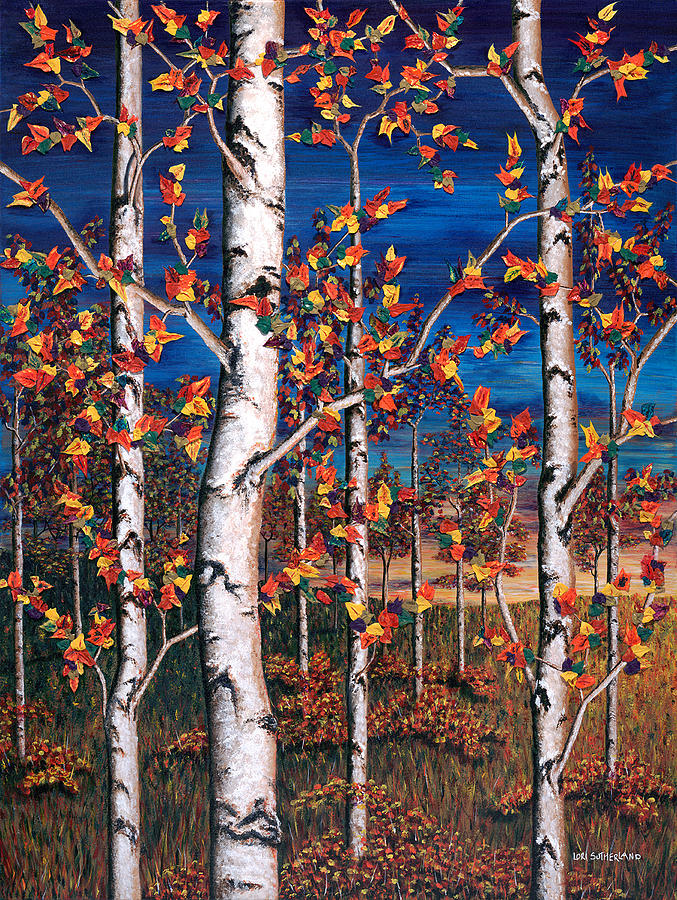 Autumn Birch Forest by Lori Sutherland