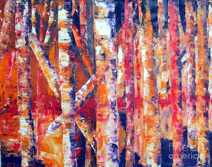 Landscape Painting - Autumn Birches by Lisa Boyd