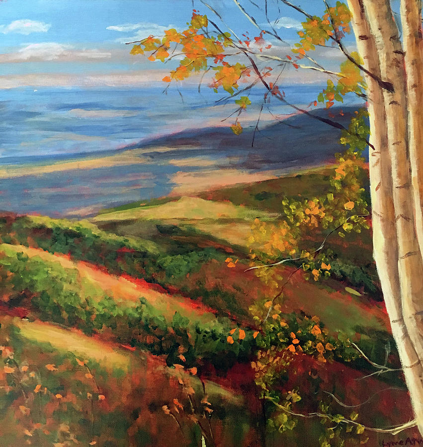 Autumn Painting - Autumn Birches by Lynne Atwood