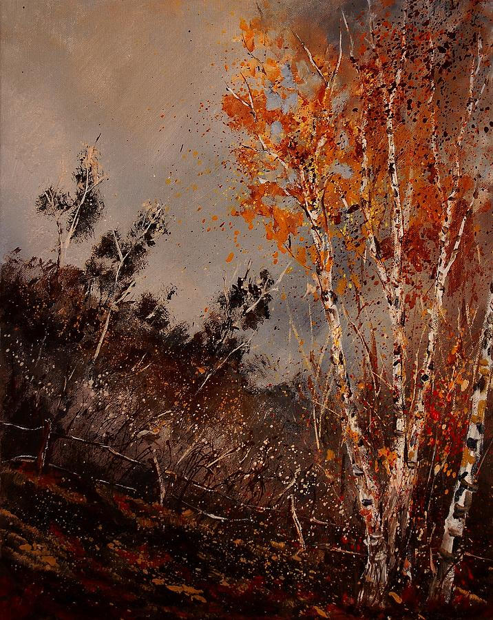 Tree Painting - Autumn Birches  by Pol Ledent