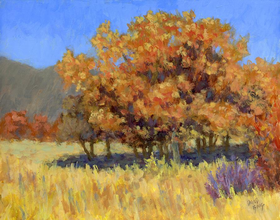 Landscape Painting Painting - Autumn Blaze by David King