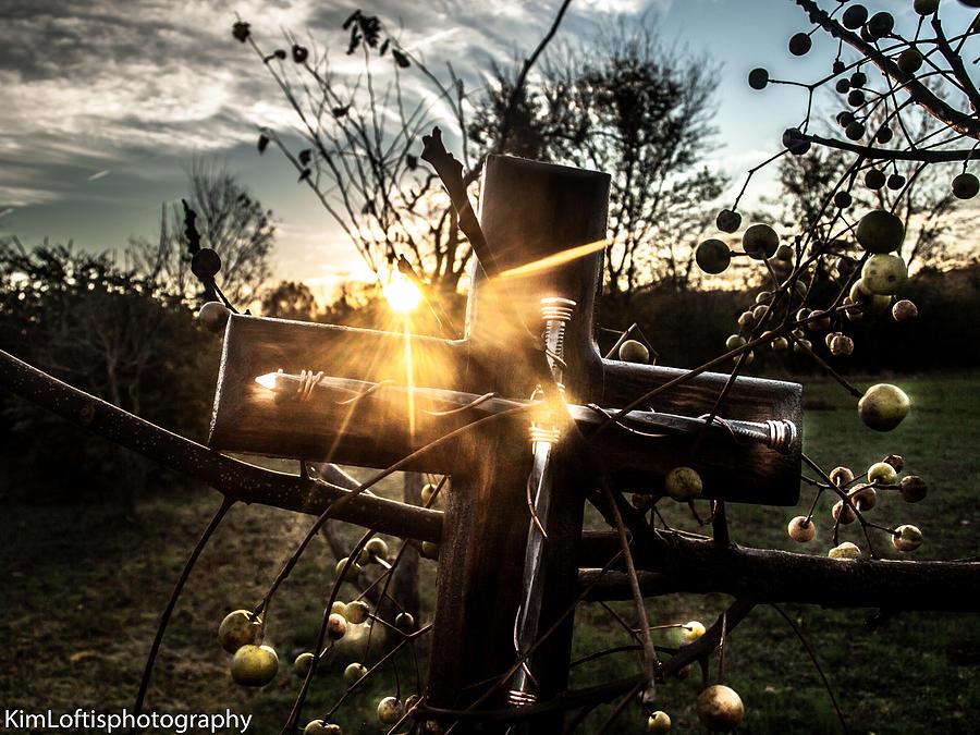 Cross Photograph - Autumn Blessings  by Kim Loftis