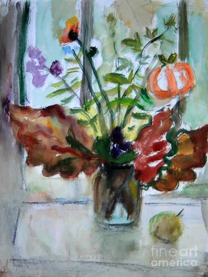 Still Life Painting - Autumn Bouquet by Andrey Semionov