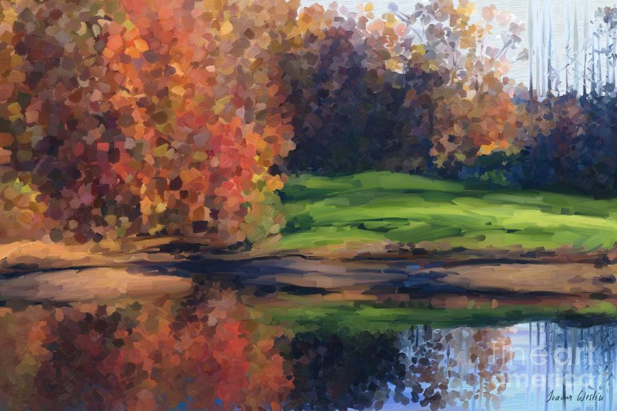 Painting Painting - Autumn By Water by Ivana Westin