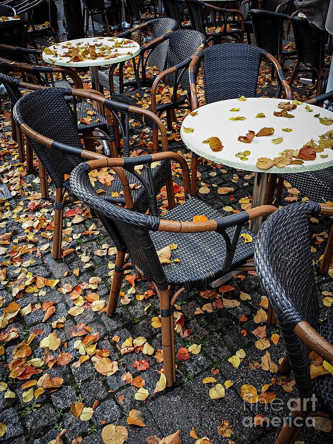 Cafe Photograph - Autumn Cafe by Elena Elisseeva