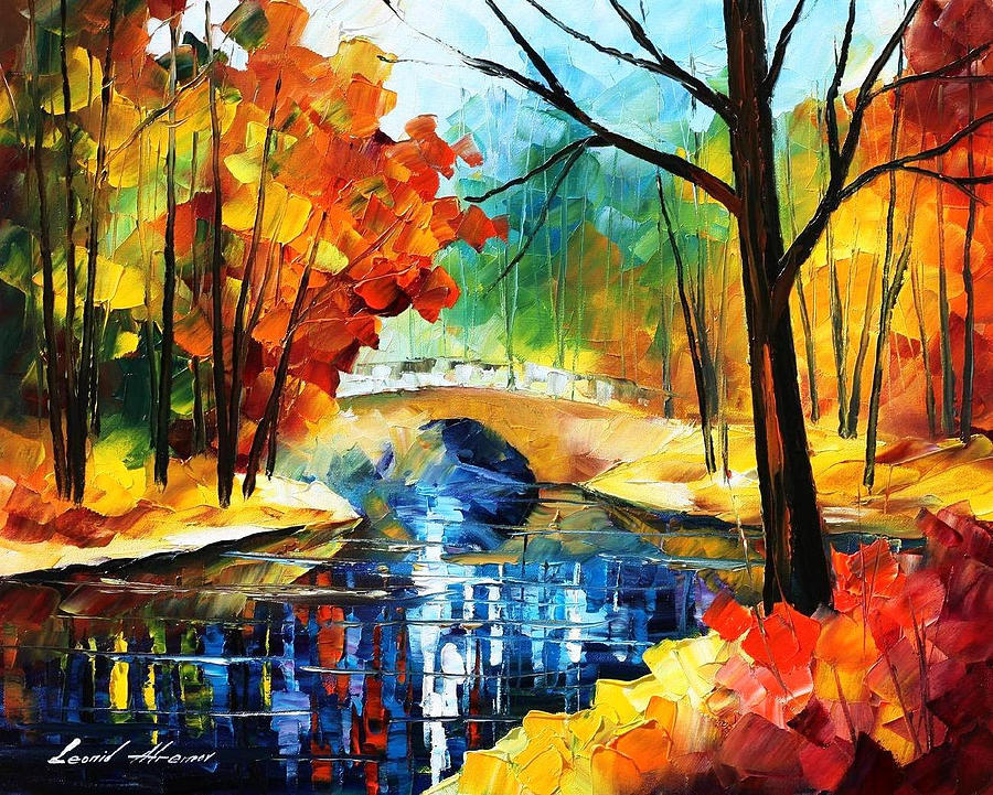 Autumn Calm 2 Palette Knife Oil Painting On Canvas By