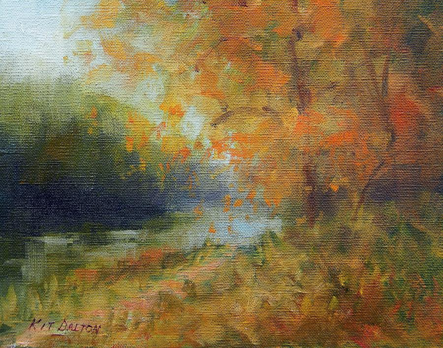 Autumn Painting - Autumn Canal by Kit Dalton