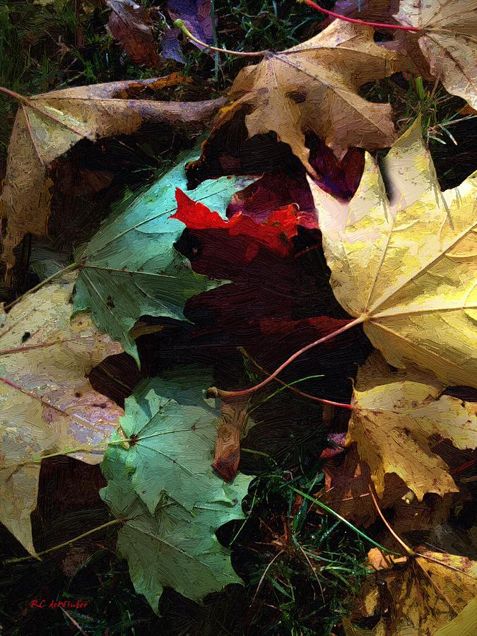 Autumn Painting - Autumn Carpet by RC DeWinter