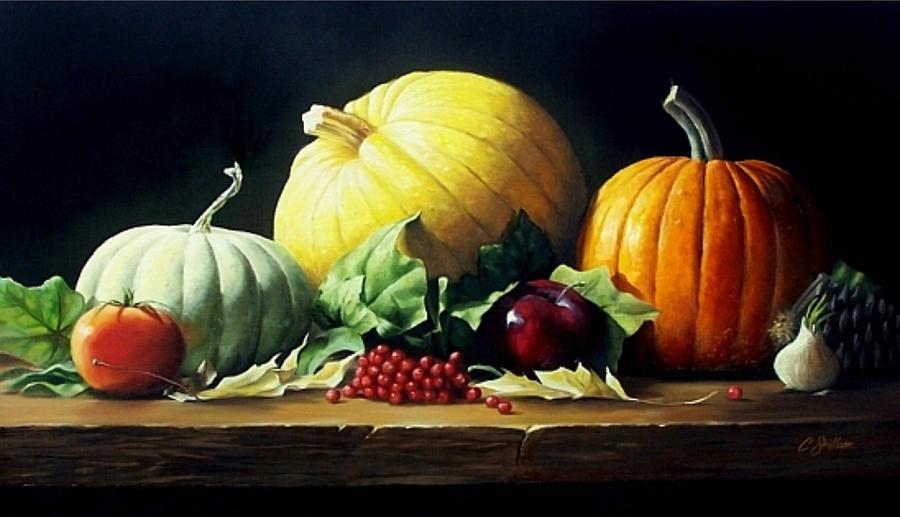 Autumn Centerpiece Painting