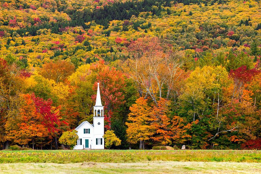 Fall Photograph - Autumn Chapel by Robert Clifford