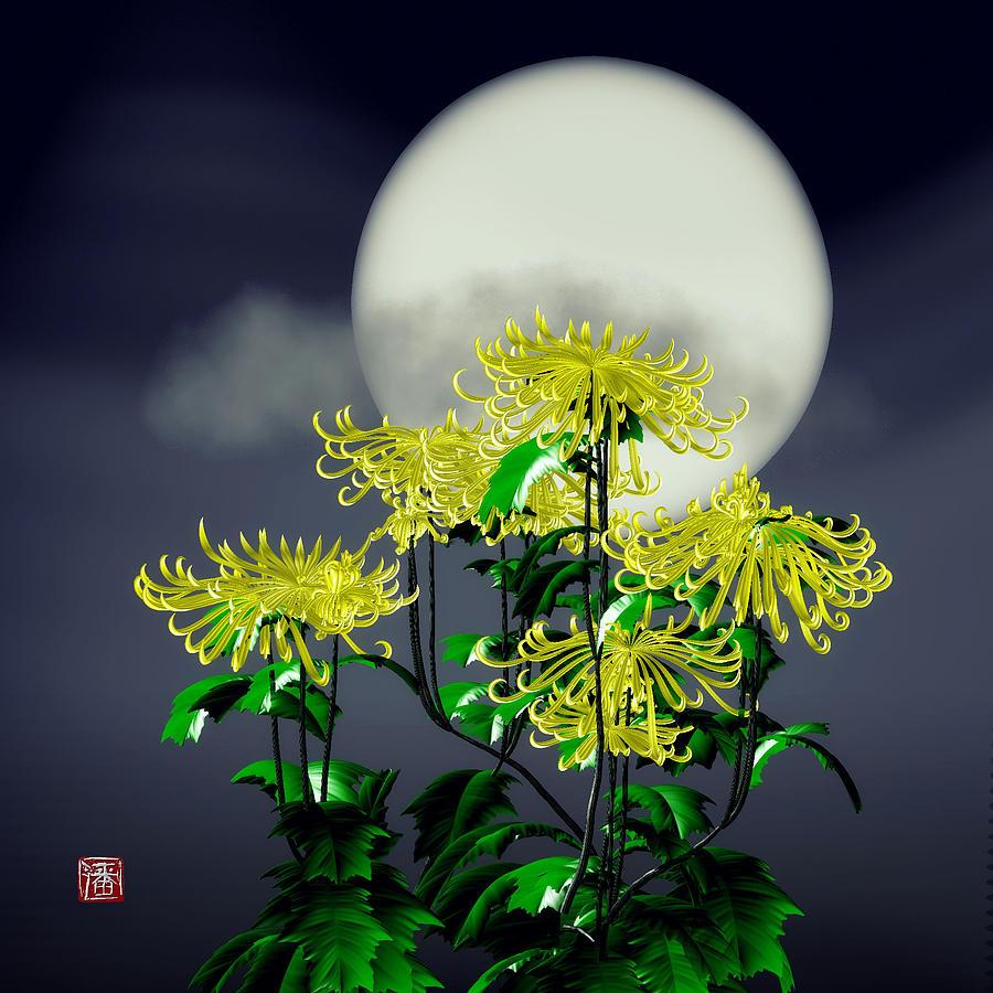 Autumn Chrysanthemums Digital Art by GuoJun Pan