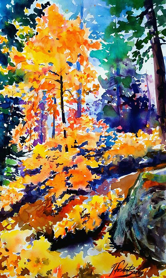Autumn Painting - Autumn Colors At Balch Park by Therese Fowler-Bailey