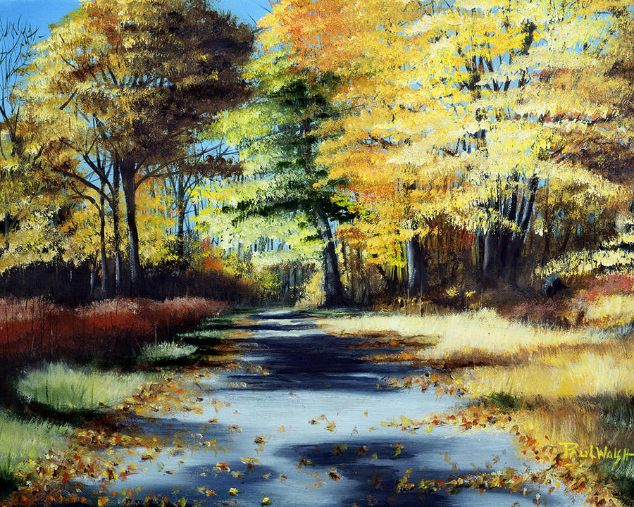 Landscape Painting - Autumn Colors by Paul Walsh