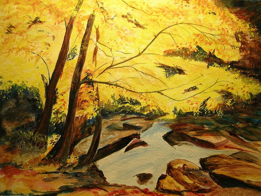 Fall Painting - Autumn Colours by Lizzy Forrester