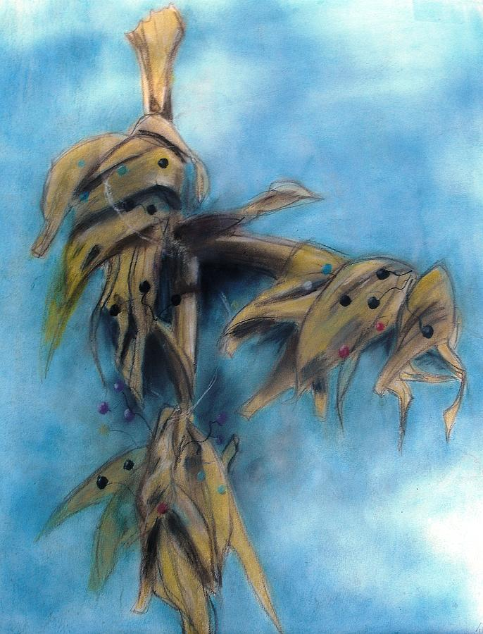 Painting Pastel - Autumn Cornstalk by Thomas Armstrong