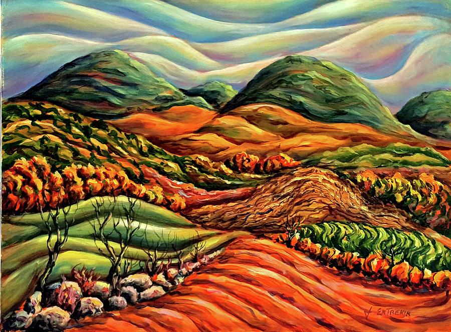 Autumn Painting - Autumn Countryside by John Entrekin