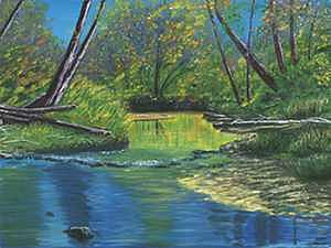 Autumn Creek Painting by James Lavin
