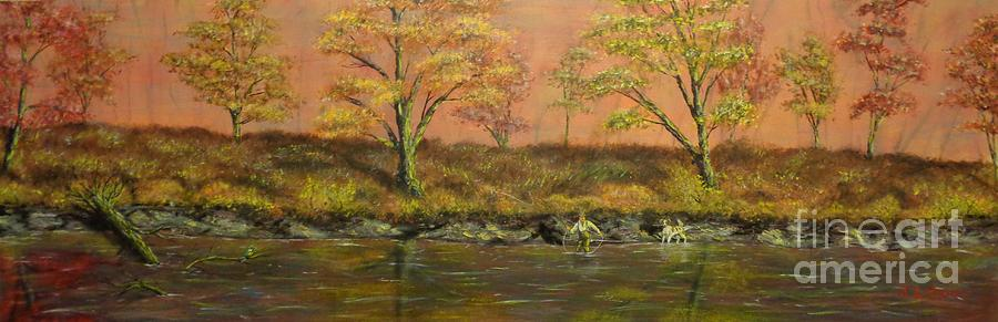 Autumn Creek Untouched by Urban Man Panoramic by Jack Lepper