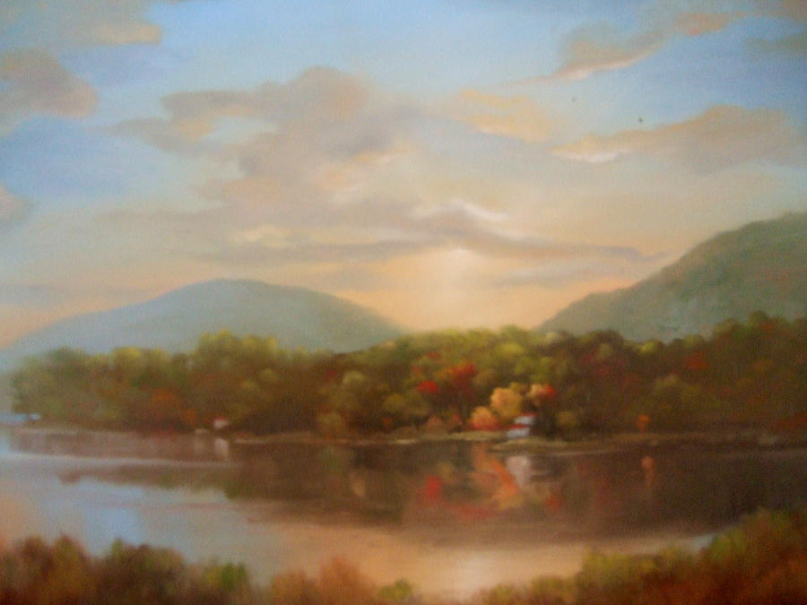 Landscape Painting - Autumn Creeping In by Kevin Palfreyman