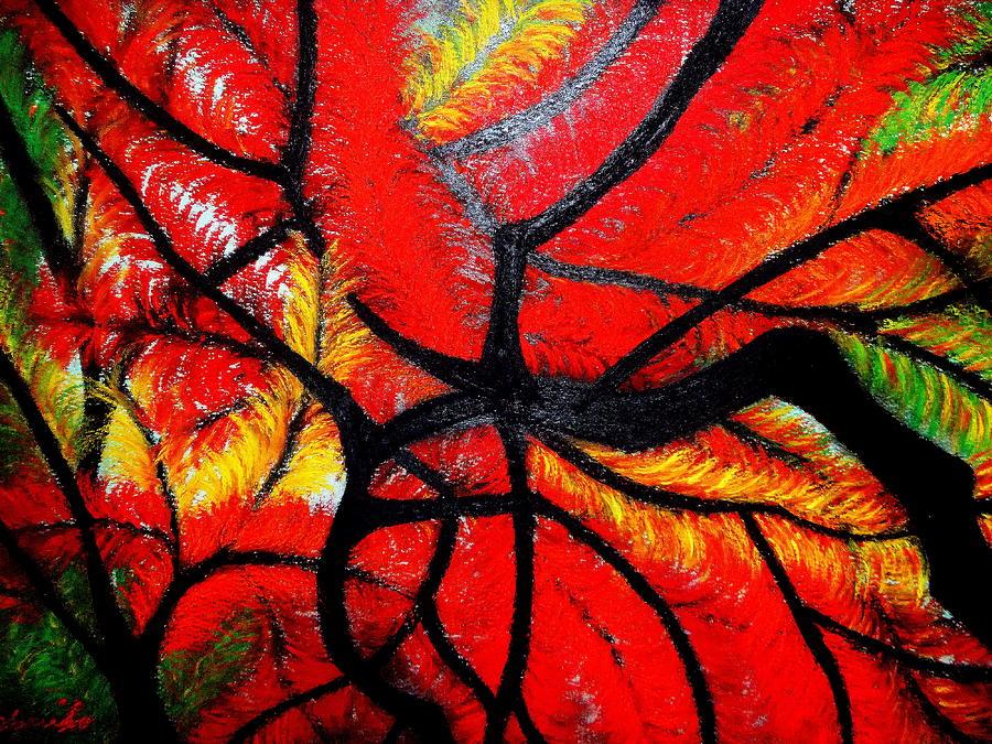 Autumn Painting - Autumn Dance by Kumiko Mayer