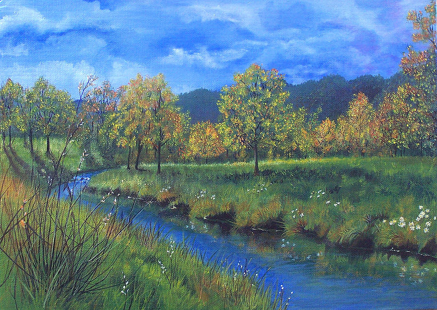 Landscape Painting - Autumn Day by Studio Giselle
