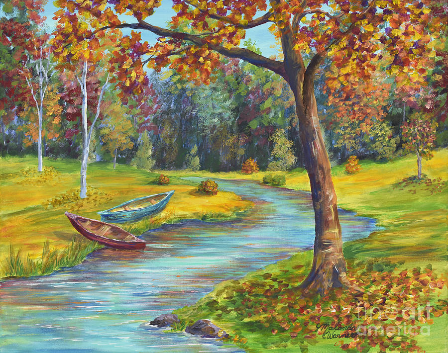 Autumn Scenery Painting - Autumn Daze Splendor  by Malanda Warner