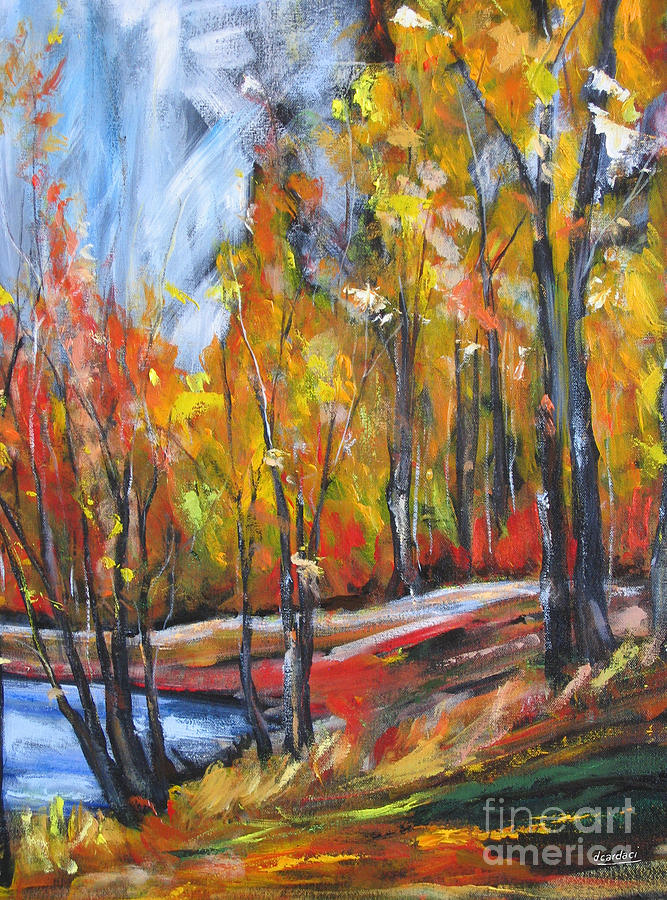 Fall Painting - Autumn by Debora Cardaci