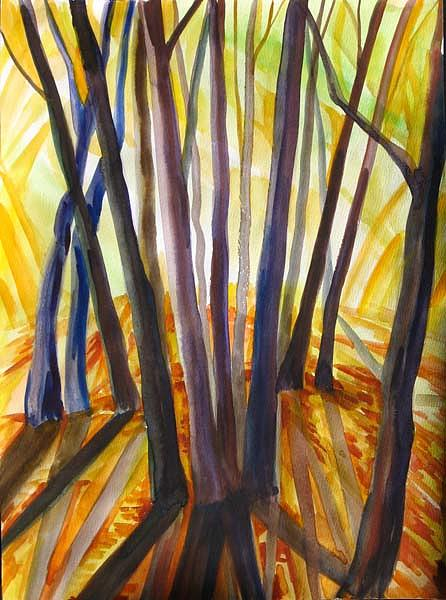 Nature Painting - Autumn Design by Anna  Duyunova