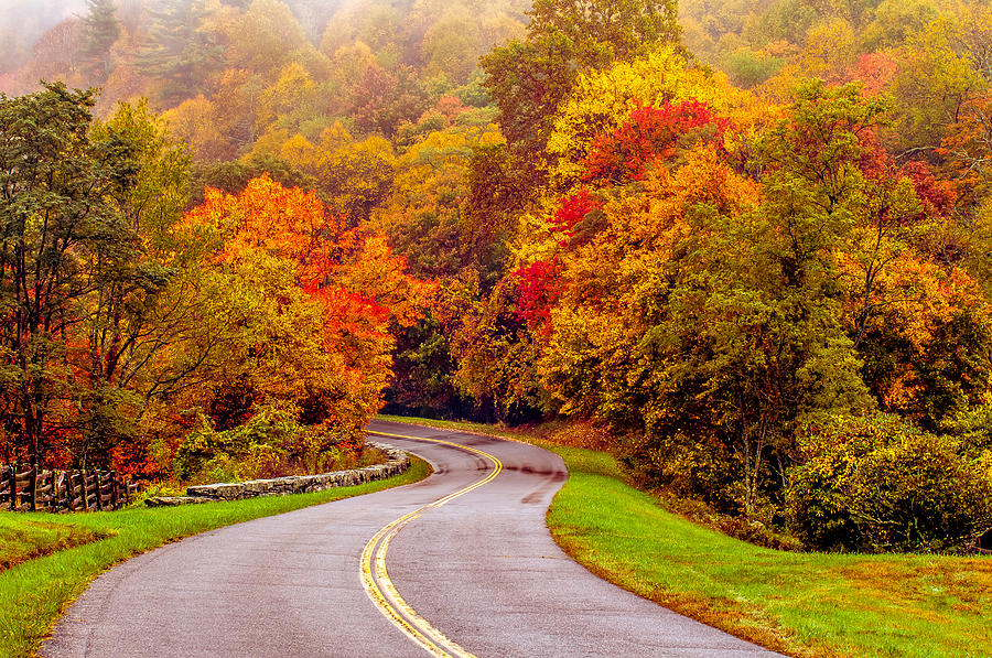 Blue Ridge Parkway Photograph - Autumn Drive On The Blue Ridge by Alex Grichenko